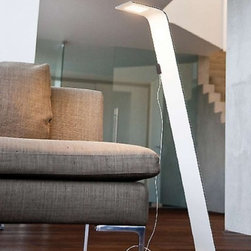 """F Sign - F Sign One LED floor lamp - The One LED floor lamp from F Sign was designed by the three brothers Mathias, Simon and Jurgen Frech and made in Germany. The One LED floor  lamp is a aluminum composite luminaire which uses a 4mm ultra-flat lighting series which requires a converter integrated inside the connection box. Its aluminum composite plays a major part in the thermal management making this FSIGN[LED] technology up to 80% efficient yielding up to 5 times higher lumen output in comparison to a halogen luminaire with no uv or ir rediation and a guranteed life span of 50,000+ hours. Great for difficult to access areas where maintainance would not be required.   Products description: The One LED floor lamp from F Sign was designed by the three brothers Mathias, Simon and Jurgen Frech and made in Germany. The One LED floor  lamp is a aluminum composite luminaire which uses a 4mm ultra-flat lighting series which requires a converter integrated inside the connection box. Its aluminum composite plays a major part in the thermal management making this FSIGN[LED] technology up to 80% efficient yielding up to 5 times higher lumen output in comparison to a halogen luminaire with no uv or ir rediation and a guranteed life span of 50,000+ hours. Great for difficult to access areas where maintainance would not be required. Details:                         Manufacturer:                         F Sign                                         Designer:                         Mathias, Simon and Jurgen Frech                                         Made  in:            Germany                            Dimensions:                         Height: 38.6"""" (98cm) X Width: 17.7"""" (45cm)                                                     Light bulb:                                      1 X FSIGN[LED] Module                                         Material                         Aluminuml"""