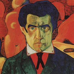 "Kazimir Malevich Self Portrait - 16"" x 16"" Premium Archival Print - 16"" x 16"" Kazimir Malevich Self Portrait premium archival print reproduced to meet museum quality standards. Our museum quality archival prints are produced using high-precision print technology for a more accurate reproduction printed on high quality, heavyweight matte presentation paper with fade-resistant, archival inks. Our progressive business model allows us to offer works of art to you at the best wholesale pricing, significantly less than art gallery prices, affordable to all. This line of artwork is produced with extra white border space (if you choose to have it framed, for your framer to work with to frame properly or utilize a larger mat and/or frame).  We present a comprehensive collection of exceptional art reproductions byKazimir Malevich."
