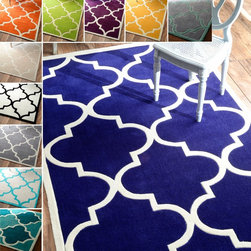 Nuloom - nuLOOM Handmade Luna Moroccan Trellis Rug (7'6 x 9'6) - This quality handmade rug has a modern style that is ideal for your home. The modified acrylic fibers prevent shedding,so the rug stays looking great. The plush rug is the perfect way to dress up a room while keeping your feet off cold floors.
