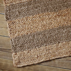 Jumbo Stripe Jute Rug - This is a great new rug from West Elm. The neutral, subtle stripes in this jute rug would work in most any room.