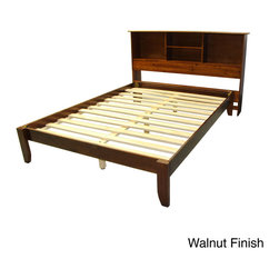 EpicFurnishings - Scandinavia Queen-size Solid Wood Platform Bed with Bookcase Headboard - The solid wood Scandinavia platform bed is built to last. It can be used with any mattress type and with or without a box spring. With its transitional design and several classic finishes, the Scandinavia bed will fit any d_cor.