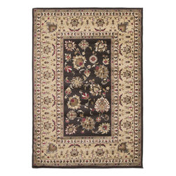 "Surya - Riley Rug RLY-5059 - 5'3"" x 7'6"" - Both a bold zig-zag pattern and traditional organic pattern define the rugs in the Riley collection from Surya. While the zig zag pattern is a modern take on the traditional southwest style, the floral pattern of classic style is given a fresh perspective, combining it with geometric sections of different background colors. The Neural browns, tans and grays are delightfully balanced with a pop of cinnamon spice for added interest. Each rug is machine made in Turkey from 1% polypropylene."