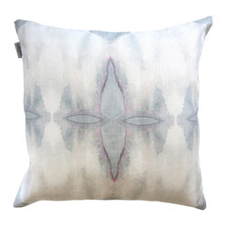 "Adaptive Textiles - Ripple Pearl 18""X18"" Pillow - The mirror images created in this watercolor pillow are simply sublime. You could create an ethereal look on a couch or bed with a collection of these pillows."