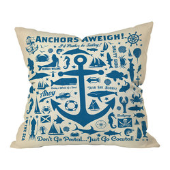 Anderson Design Group Anchors Away Pattern Throw Pillow, 26x26x7