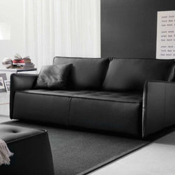 Bontempi Casa - Antares Sofa - Designed by:Marco Candti Features: -Design that conjugates a classical style with a modern design.-Designed to utilize completely the seating capacity.-Ideal mix of firm support and comfort: structure in hardwood and plywood, suspension system in interlaced elastic belts, one layer of high density foam and a second layer in memory foam water Lilly.-Suits a variety of lounging positions internal channels.-Provide even distribution and reduce the need for fluffing.-Removable, particularly important especially for the delivery and the installation of the sofa.-Made in Italy.-Distressed: No.-Country of Manufacture: Italy.Dimensions: -Dimensions: 33.46'' H x 87.01'' W x 41.73'' D.-Overall Product Weight: 163.5 lbs.