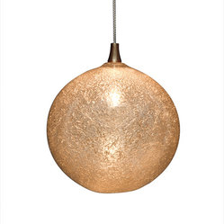 Shakuff - Snow Glass Pendant Light, Champagne - Let it snow, let it snow, let it snow! Create a sparkling ambiance in your room with a crystalline frost-encrusted pendant light. You'll be dazzled by the elegant simplicity of this handblown glass orb.