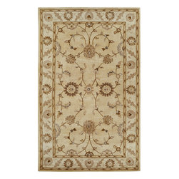 Dynamic Rugs - Dynamic Rugs Charisma 1405-111 (Champagne) 5' x 8' Rug - The Charisma collection is all about the beauty of classic Persian rug designs balanced with today's need for a more relaxed interior flair. Here classic designs are executed to provide a more casual interior look. All over patterns are re-interpreted and tufted in a range of beautiful colors and striking designs inspired by ancient Peshawar and Mahal originals. Hand tufted and washed in India.