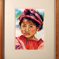 Gayle, Portrait of a Girl, Watercolor Painting - Artist:  Gayle