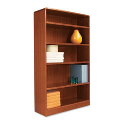 Alera - Alera BCR56036MC Aleradius Corner Wood Veneer Bookcase - Medium Cherry Multicolo - Shop for Bookcases from Hayneedle.com! About AleraWith the goal of meeting the needs of all offices -- big or small casual or serious -- Alera offers an excellent line of furnishings that you'll love to see Monday through Friday. Alera is committed to quality innovative design precision styling and premium ergonomics ensuring consistent satisfaction.