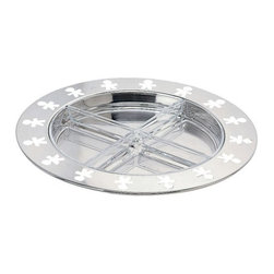 "Alessi - Alessi ""Girotondo"" Hors-d'Oeuvre Set - Sure to be an instant party classic, this fun tray is made from high-quality stainless steel with a rim pierced with its own ring of party guests. Four removable trays fit inside to hold olives, nuts, candies or small hors d'oeuvres."