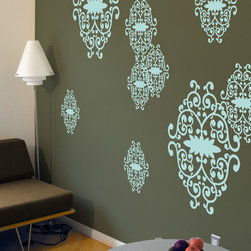 Blik - Blik Iron Vines Wall Stickers in Mint - Blik Iron Vines has been improved with new sized decals. This striking pattern adds an intricate stencil effect to your pad and an envious glean to your friends' eyes. Includes: