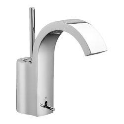 "Rem Monoblock Bathroom Faucet - European minimalist designCast brass spout and bodyJoystick multiport ceramic disc valve cartridge5-3/4"" spoutSpeed Connect® with 1-1/4"" drainLead Free—faucet contains ≤ 0.25% total lead content by weighted volumeMaximum Flow Rate: 1.5 GPM (5.7L/min)"