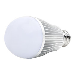 E27 RGB LED, 6W w/ RF Touch Color Remote Traditional Medium Screw Base Color Cha - E27RF-RGB6-TC4 series globe type LED replacement bulb for traditional medium screw base lamps. Consumes 4.2 Watts of power using fifteen x 5630SMD LEDs. Includes hand held RF Touch Color Remote. (Requires 2 x AAA batteries -- Not Included). Control range is 65 feet in open air. Color selection wheel provides thousands of color options including pure white. 19 dynamic color-changing modes with speed, brightness and ON/OFF controls. Compatible with Wi-Fi LED Controller Hub (WIFI-CON -- Sold separately) for adjusting all controller functions using a Smartphone or tablet running Android or iOS. Search for the free app 'WiFi Controller' in your device's marketplace.