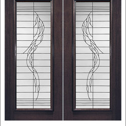 Exterior and Interior Beveled Glass Doors Model # 903 - Our Beveled Glass Doors are made of individually hand cut glass put together with metal caming.  Doors triple glazed (three pieces of glass) for insulation and they are easy to clean with a smooth surface.  Doors are available in a variety of sizes and styles. The door is constructed from FSC Brazilian Mahogany.  Interior versions of these doors are available in our Decorative Glass Doors under the interior doors category.