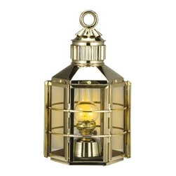 """16"""" Polished Brass Clipper Ship Lantern (Electric) - The polished brass clipper ship lantern measures 16""""H. It is made of polished brass  is available in electric. It will add a definite nautical touch to wherever it is placed and is a must have for those who appreciate high quality nautical decor. It makes a great gift, impressive decoration and will be admired by all those who love the sea."""