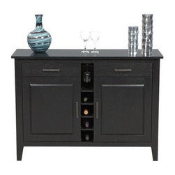 Winners Only - Santa Fe Wine Server - Two drawers and doors. Ebony finish. Minimal assembly required. 52 in. W x 18 in. D x 36 in. H