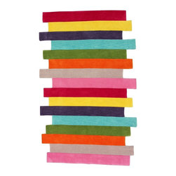 Nu Loom - Kids' Cine Rectangle Multicolor Area Rug - The Cine area rug Collection offers an affordable assortment of Kids stylings. Cine features a blend of natural Multi Color color. Hand Tufted of 100% Polyester the Cine Collection is an intriguing compliment to any decor.