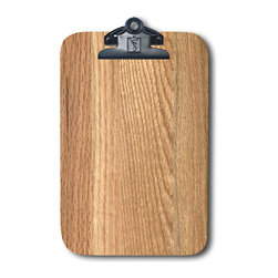 Note Catchers by Winwood Designs - Red Oak Magnetic Clipboard,   Refrigerator Magnet Extraordinaire - Designed to hold a traditional memo pad and pen. Crafted in solid Appalachian Red Oak  wood. Surprising strong magnets that will adhere to most steel surfaces.  Made in the USA from earth friendly American hardwoods. Organize your kitchen, officer or car with this beautiful accessory.