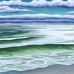 """""""Coastal Calm"""" Artwork - My paintings are much more than a stylized rendition of a particular seashell or seascape. i very often strive to communicate to the viewer a state of mind, a stillness, a peace that can be found by the sea. when i walk the beach, i begin to see signs as well. reminders of who we really are, of what is important, of what really matters."""