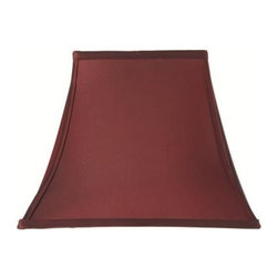 Home Decorators Collection - Home Decorators Collection Rectangular Bell 13 in. H x 18 in. W Large Red Silk S - Shop for Lighting & Fans at The Home Depot. The classic shape of our Rectangular Bell Silk Lamp Shade will complement a wide variety of decorating concepts. The gentle curves and pointed corners make a striking statement. Add this beautiful shade to your lamp and order yours today.