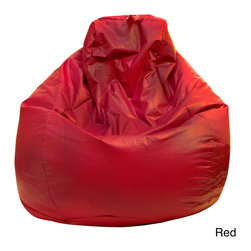 Gold Medal - Gold Medal Large Vinyl Teardrop Bean Bag - Expand your casual seating options in the family room with this fun vinyl bean bag. A teardrop shape offers extra support for the back and hips of whoever sits down. The vinyl cover features a tough zipper that kids won't be able to open.