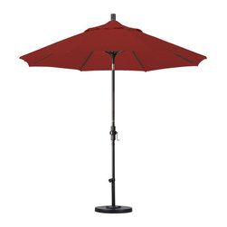 California Umbrella - California Umbrella Patio Umbrellas 9 ft. Fiberglass Collar Tilt Patio Umbrella - Shop for Outdoor Patio Furniture at The Home Depot. Designed for convenience value and performance California Umbrella products bring the full weight of our design experience to your table. California Umbrella pioneered and developed the original and revolutionary Collar Tilt feature to tilt your umbrella to any degree you wish while you enjoy the afternoon and evening outside. We still boast the widest tilt degree in the market allowing you to stay outside longer with your family and friends. Pacifica NEW by California Umbrella is a solution dyed polyester fabric perfected for use with our umbrellas. Our proprietary selection offers tremendous possibilities for color varieties and performance shade fabric.