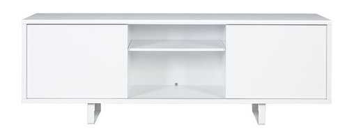 Temahome - Slide High Frame + Doors + Feet - Slide channels the simplicity of a minimalist design in its sideboard and TV table versions. Both pieces incorporate plenty of room to store objects that can be hidden away or displayed. With doors in various finishes, the Slide brings a desirable lightness to a modern space.