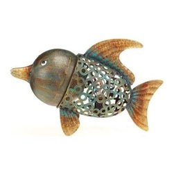 DecoFLAIR - Novelty Lamps: 11 in. Lighted Nightlite Hand Crafted Bronze Metal Fish Luminary - Shop for Lighting & Fans at The Home Depot. The DecoFLAIR Home Accent Collection offers a variety of functional yet decorative product types. This exciting collection is a true fusion of home accents and gifts. Mirrors, candle holders, hurricane glasses, key hooks, decorative baskets and wall art are beautifully hand crafted and adorned with your favorite decorative motifs.