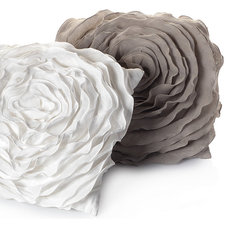 Contemporary Decorative Pillows Glamorous Natural Floret Pillow