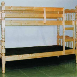 Yuan Tai Furniture - Wood Bunkbed Cherry Twin Over Twin Bunkbed - 9076-CH - Solid Hardwoods and wood veneers
