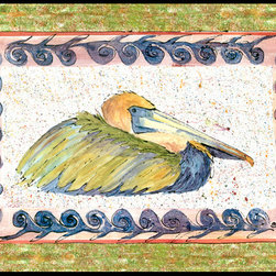 Caroline's Treasures - Bird - Pelican Indoor Or Outdoor Mat 24X36 Doormat - Indoor / Outdoor Mat 24x36 - 24 inches by 36 inches. Permanently dyed and fade resistant. Great for the front door or the back door.  Use this mat inside or outside.    Use a garden hose or power washer to chase the dirt off of the mat.  Do not scrub with a brush.  Use the Vacuum on floor setting.  Made in the USA.  Clean stain with a cleaner that does not produce suds.