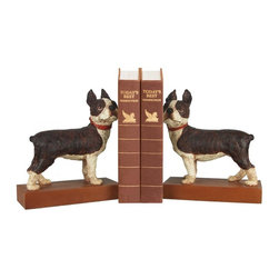 Sterling Industries - Pair Boston Terrier Bookends - Pair Boston Terrier Bookends