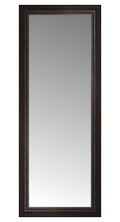 """Posters 2 Prints, LLC - 17"""" x 42"""" Tuscany Embossed Custom Framed Mirror - 17"""" x 42"""" Custom Framed Mirror made by Posters 2 Prints. Standard glass with unrivaled selection of crafted mirror frames.  Protected with category II safety backing to keep glass fragments together should the mirror be accidentally broken.  Safe arrival guaranteed.  Made in the United States of America"""
