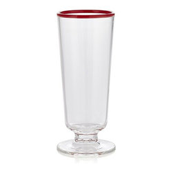 Carlos Acrylic Footed Drink Glass - I love that these glasses look fancy, but they are acrylic and virtually unbreakable. Perfect for patio living.