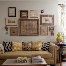 Eclectic Living Room by Lauren Gries