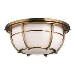 HUDSON VALLEY LIGHTING - Hudson Valley Lighting Conrad-Flush Mount Aged Brass - Free Shipping