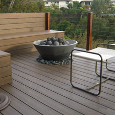 Modern Deck by Hart Concrete Design