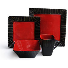 Dinnerware STONEGATE 16 PC DINNER SET - RED
