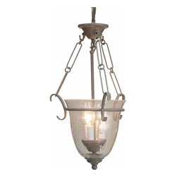 "Volume Lighting - Volume Lighting V1933 3 Light Foyer 20"" Height Pendant with Clear Seedy Glass Sh - Three Light Foyer 20"" Height Pendant with Clear Seedy Glass ShadeExquisite and endearing, this 3 light foyer pendant features dazzling clear seedy glass.Features:"