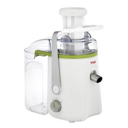 T-Fal/Wearever - Balanced Living Juice Extractor - The T-fal balanced living juice extractor guarantees a quick and easy way to make healthy fruit and vegetable juices in just a matter of seconds with two speeds and a whole fruit feeding tube. The juicer features an anti-drip spout stainless steel filter and 1.25 liter pitcher which are all dishwasher safe for fast and easy clean up. With a 3 liter integrated pulp container and variable speeds you can make any kind of juice just the way you like it! The juicer features a metal locking arm for added safety. 550 watt