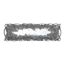 Arthur Court - Grape Oblong Tray - Whether you're a wine enthusiast or simply appreciate objects inspired by nature, this aluminum grapevine tray belongs in your collection. Its oblong shape is ideal for serving — and its beauty makes it worthy of display.