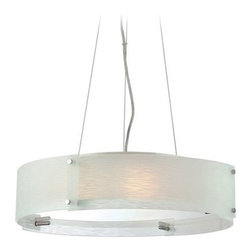 Lite Source - Lite Source LS-19420C/FRO Kaelin 3 Light Drum Pendant - Features: