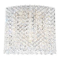 Schonbek Lighting - Schonbek Lighting REW1009A Refrax Silver Wall Sconce - 5 Bulbs, Bulb Type: 50 Watt Halogen