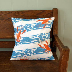 Lobster/Crayfish Nautical Pillow Cover, Blue by Lilleputt Studio - I like that this pillow features a more modern twist on a lobster design. It would make a fun accent on a sofa or porch during the summer months.