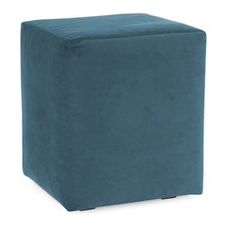 Howard Elliott - Mojo Turquoise Universal Cube Ottomans - Simple design, infinite uses. Cubes make great side tables, ottomans, alternate seating and more. Constructed by our expert craftsmen, our Cubes are made with a sturdy base and high-density foam.
