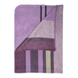 Shupaca - Violet Blanket/Throw - You're guaranteed to have sweet dreams when you curl up under this candy-colored blanket. Give yourself over to its scrumptious blend of acrylic and silky alpaca fibers in hues of violet, lime and lavender.