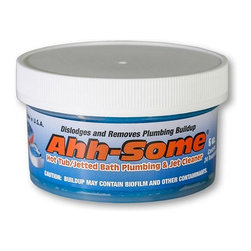 Ahh-Some - Ahh-Some Hot Tub And Jetted Bath Plumbing & Jet Cleaner Gel, 6 Oz - Ahh-Some Hot Tub & Jetted Bath Bio Cleaner is a dual-purpose product that removes bacterial bio-film build-up your Spa, Hot Tub or Jetted Bath - for clean, healthy water.  This concentrated product is environmentally-friendly & non-toxic, and is formulated to purge organic waste, oils, tanning lotions, and other by-products that can hide out of sight - deep within the plumbing system & jets. Using Ahh-Some Hot Tub / Jetted Bath Cleaner regularly to remove these contaminants & prevent bacteria from thriving (which is a major contributor to poor water clarity).