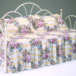 Bernards - Antique White Daybed - Antique White Peacock Daybed with Porcelain Finials. Link spring and pop up unit is sold separately. Manufacturer: Bernards. Brand: Bernards. Part Number: 4200. UPC: 708939420011