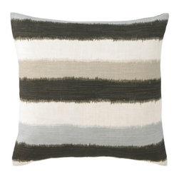 DwellStudio - Mara Pillow by DwellStudio - The DwellStudio Mara Pillow has a striped pattern that is refined, yet retains a somewhat casual effect with blurred, watercolor-like edges. This soft, laid back effect makes Mara the ideal pillow with which to mix and match and layer with others on a sofa or bed. DwellStudio, founded in 1999 by Christiane Lemieux, specializes in home furnishings steeped in modern design. With a unique sense of color and a strong commitment to quality and innovation, DwellStudio continues to create its own distinctive interpretation of modern home furnishings. In the same creative spirit, the company encourages their customers to experiment with mixing various DwellStudio textile lines together.