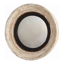 Arteriors - Arteriors DR2024 Saintes Mirror - Arteriors DR2024 Saintes Mirror made with Off-White/Black/Gold Leafed Wood/Convex Mirror.